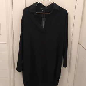 French connection black crepe top (or dress)